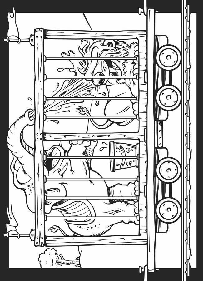 coloring pages circus train - photo#5