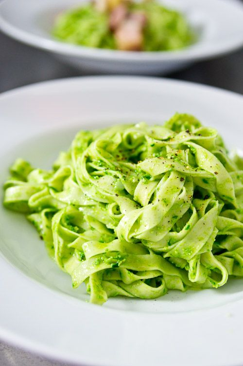 Ramp pesto pasta - I made this last night with ramps I got from my CSA ...