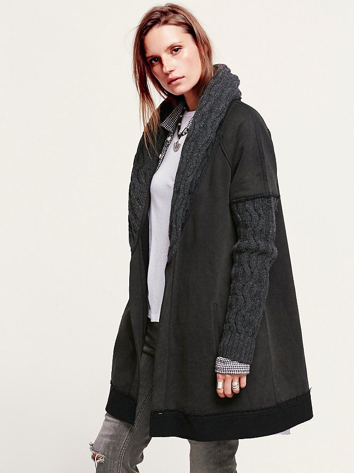 Free People Brownstone Cable Cardigan