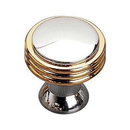 Brass And Chrome Cabinet Knob Richelieu America Knob Round