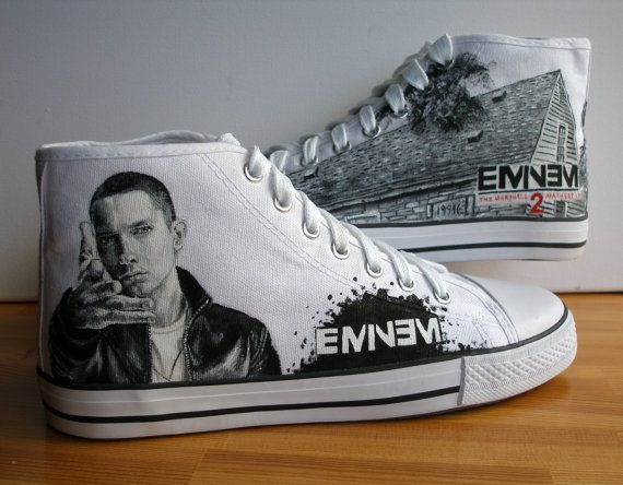 eminem converse shoes | Custom Hand painted adult shoes Eminem by