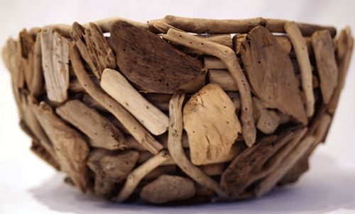 Drift wood bowl