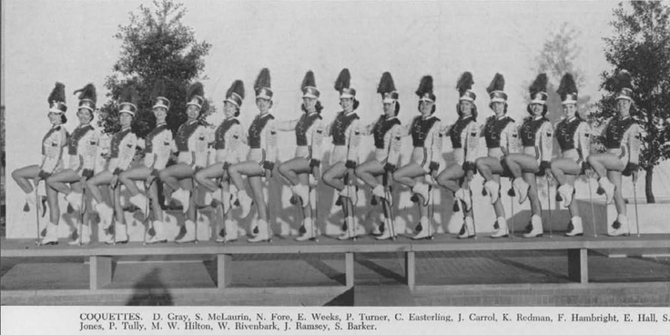 Throwback Thursday: A photo of the Coquettes from the 1960 Garnet and Black yearbook.