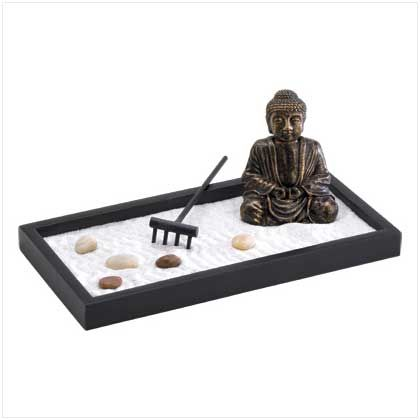 Buddha tabletop zen garden glass planters window for Jardin zen miniature