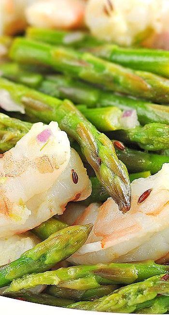 Asparagus and Shrimp Salad Recipe with Lemon Dill Vinaigrette | Recipe