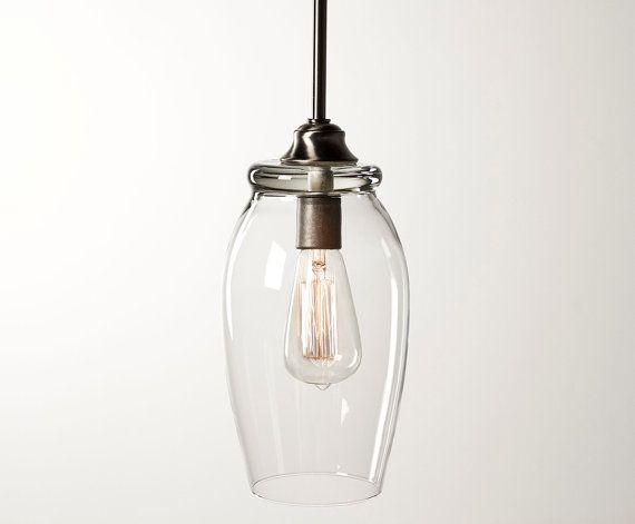 edison bulb pendant light fixture brushed nickel finish on etsy. Black Bedroom Furniture Sets. Home Design Ideas