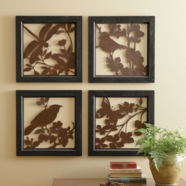 Linden Street™ Set of 4 Metal Wall Art - jcpenney
