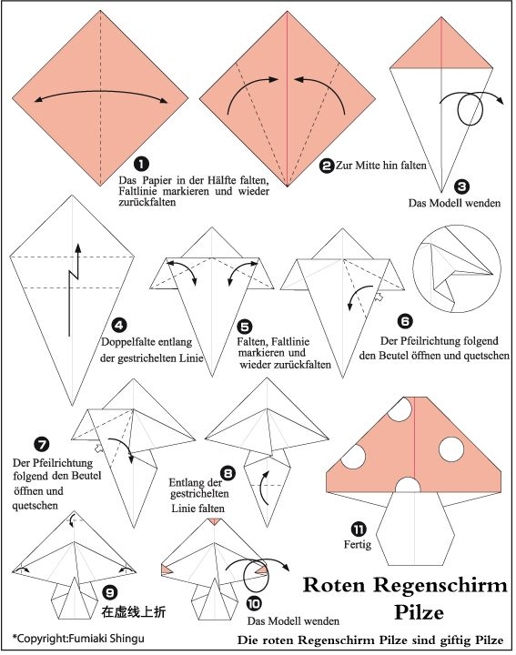 origami mushrooms inspiration in its many forms pinterest
