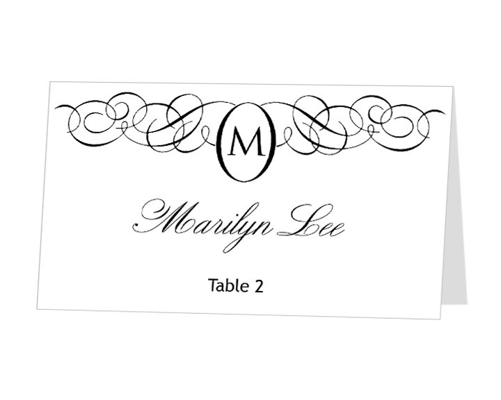 Avery Place Card Templates Free - Downloadable place card template