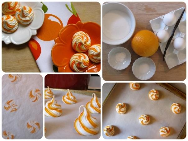 orange swirl meringue   Cake Decorating/Patisseries   Pinterest
