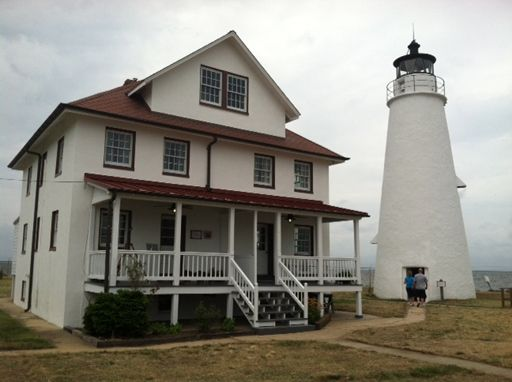 The Cove Point Lighthouse in Calvert County is the oldest continuously operating lighthouse on the Chesapeake Bay. It was built in 1828. (WTOP/Michelle Basch)