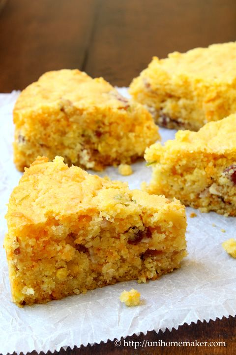 Bacon and Cheddar Cornbread | Baking Bread | Pinterest