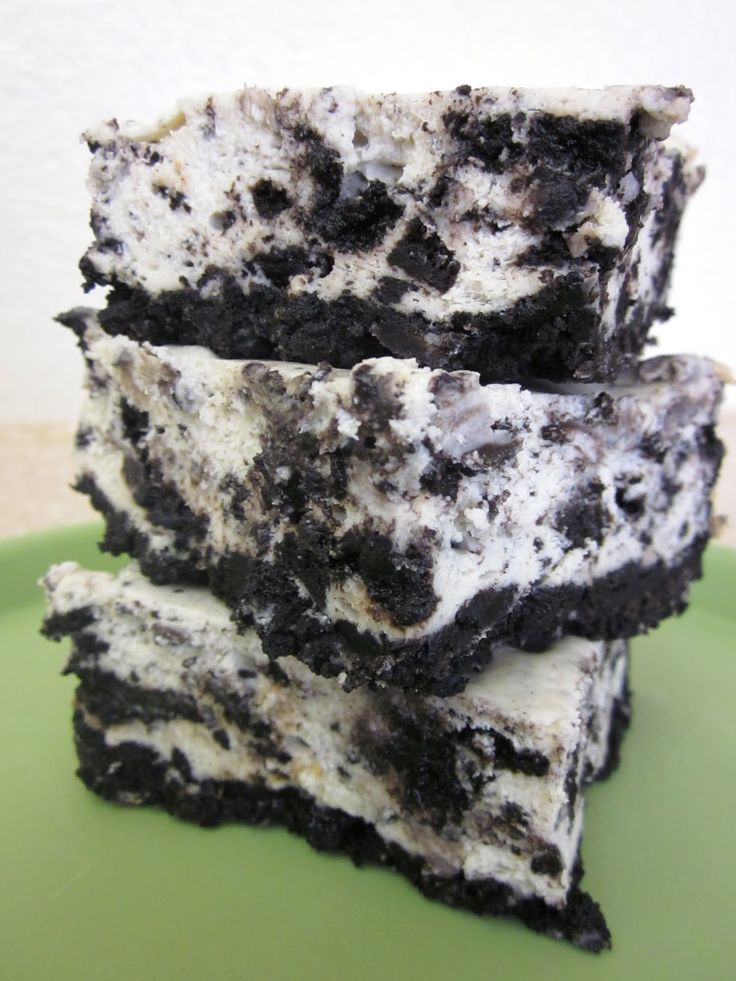 Cookies and Cream Cheesecake Bars | Food - Desserts - Bar Cookies | P ...