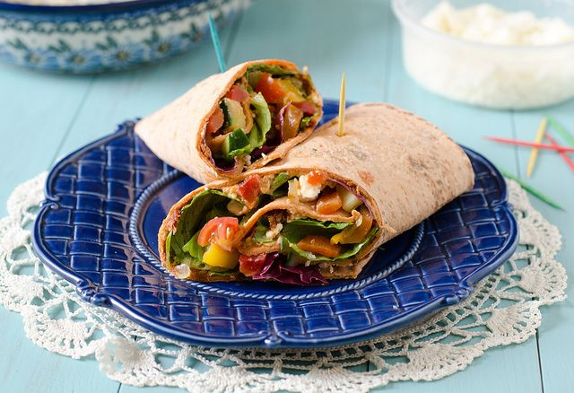 Mediterranean Vegetable Grilled Wrap Recipe — Dishmaps