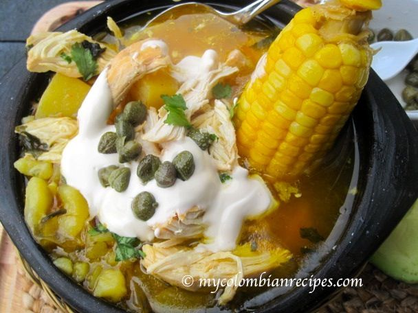 ajiaco bogotano colombian chicken and potato soup