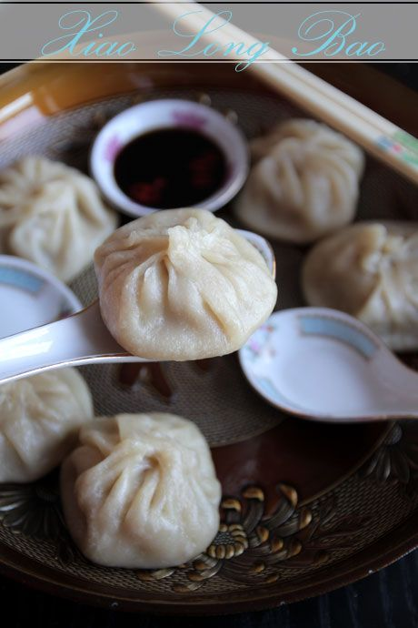 Xiao Long Bao and sauce (Juicy Pork Dumplings, Steamed Soup Dumplings ...