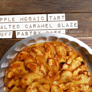 Apple Mosaic Tart With Salted Caramel Recipes — Dishmaps