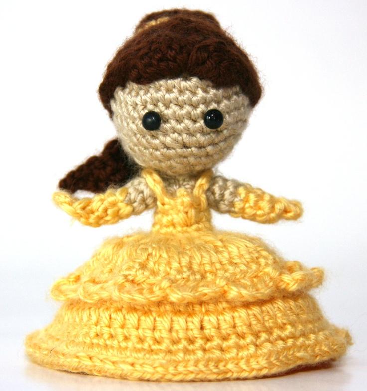 Amigurumi Star Wars Deutsch : Belle Beauty and the Beast Princess Crochet Doll Amigurumi