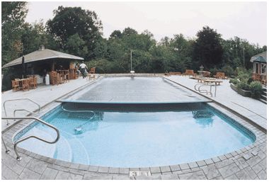 Automatic pool cover home outdoor living pools for Garden pool covers