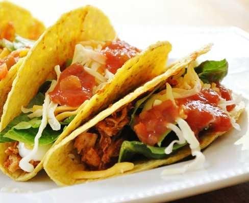 shredded chicken tacos | Yummy! | Pinterest