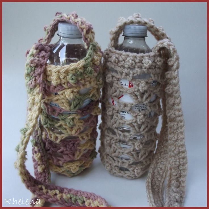 Free Crochet Pattern Water Bottle Holder : Pin by Meagan Dumas on Crafty Pinterest