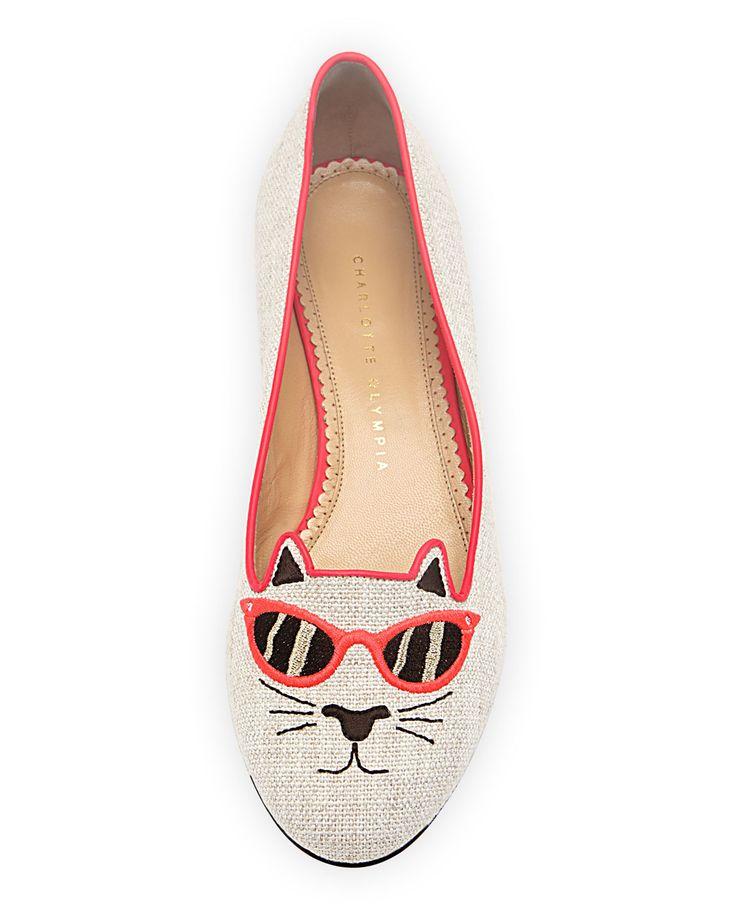Charlotte Olympia Kitty Flat via Go Jo Lo