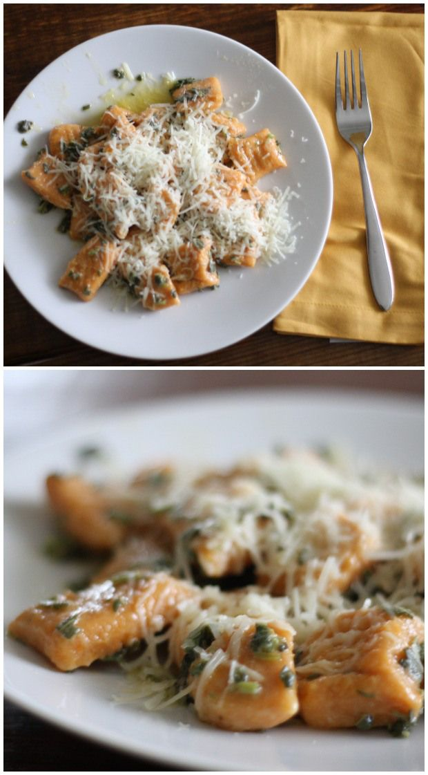 Sweet Potato Gnocchi in Sage Brown Butter | FoodLovesWriting.com
