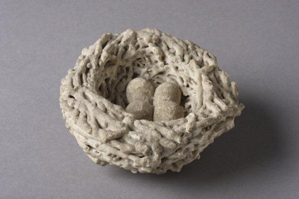 Victorian Petrified Bird's Nest (1800 to 1900 England)