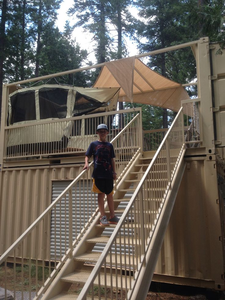 Shipping Container Tree House