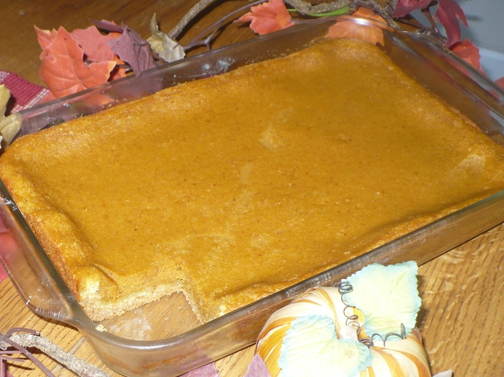 Paula Deen's Pumpkin Gooey Butter Cake-The piece missing was taste ...