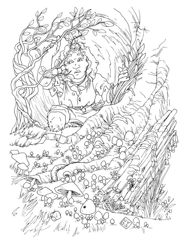 hobbit character coloring pages - photo#18