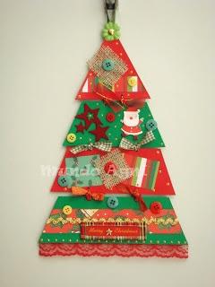 árvore de natal diferente feita de cartolina | christmas
