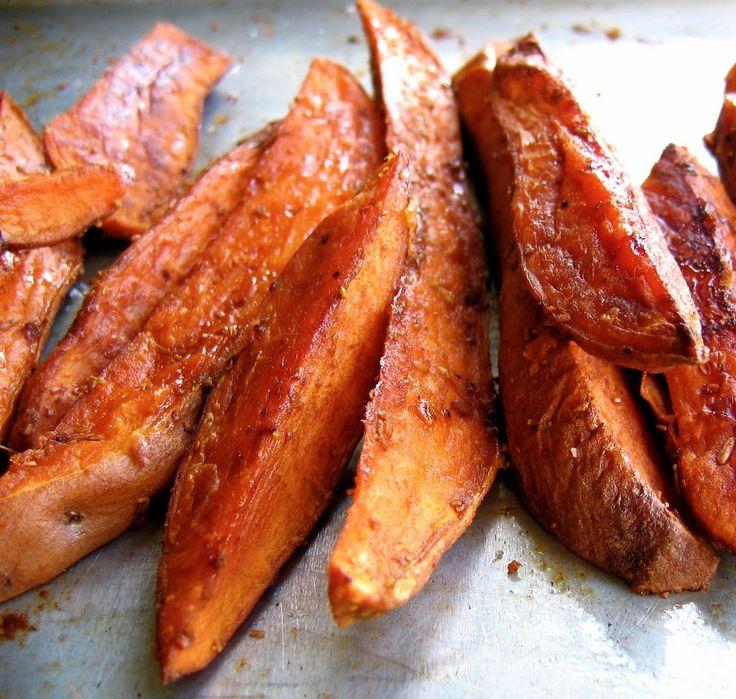 Maple Glazed Spicy Potato Wedges Recipe | Potato | Pinterest