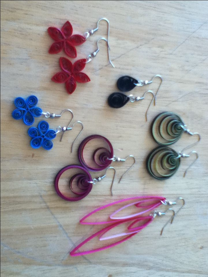 paper quilled earrings - Google Search jewelry Pinterest