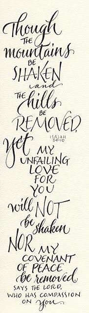 Isaiah 54:10 Thank you, Jesus.