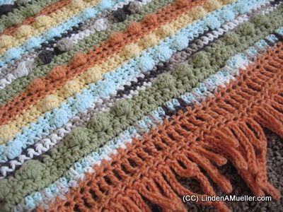 VERY EASY crochet shell stitch and bobble stitch blanket