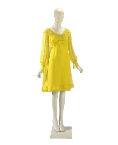 Taylor s irene sharaff sunflower yellow silk chiffon wedding dress