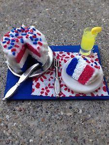 red white amp blue cake