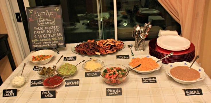 Anniversary party taco bar menu parties amp showers pinterest