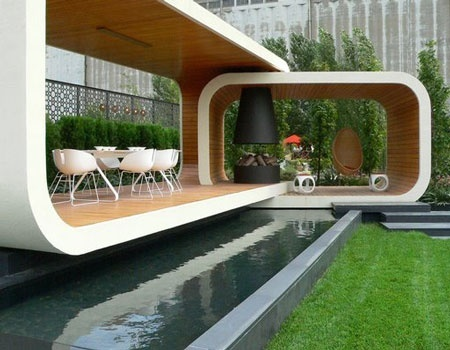 Ultra modern floating patio Garden Design