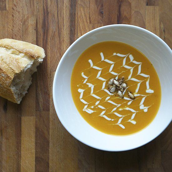 velvety butternut squash soup with yoghurt mousse butternut squash ...