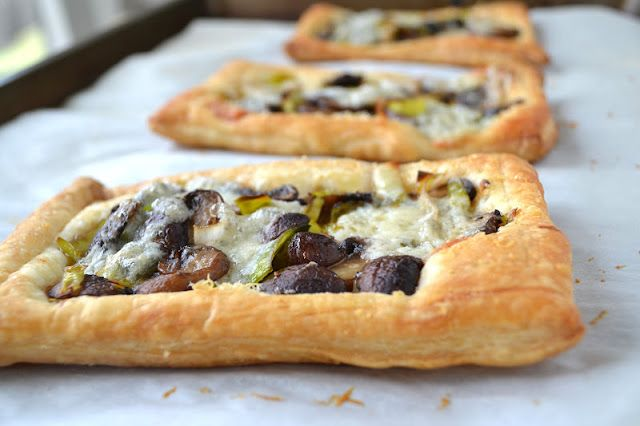 The View from Great Island | Leek, Mushroom and Gorgonzola Tarts
