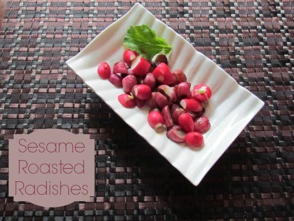 Easy Healthy Recipe: Sesame Roasted Radishes
