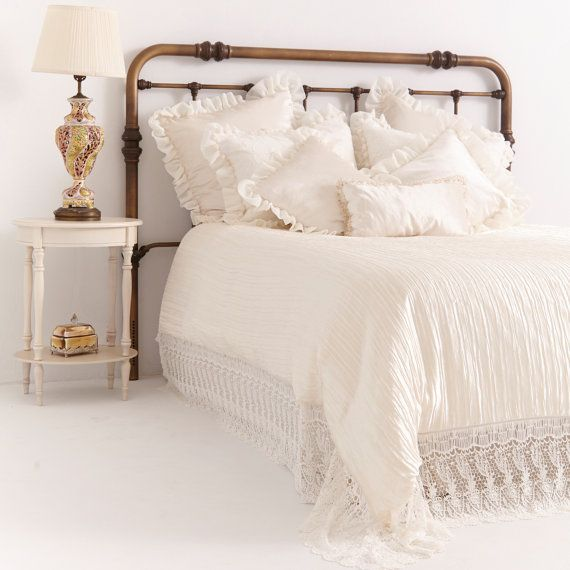 French Country Bedding Beautiful Floral Embroidered Linen