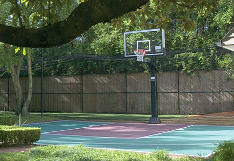 Pin by kate cole on lovely home ideas pinterest for Small basketball court