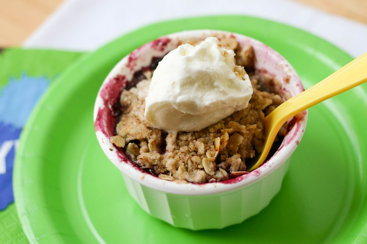 individual cherry crisp | Eat Play Love Recipes | Pinterest