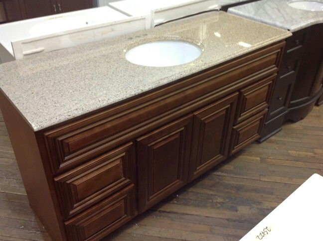 coffee glaze vanity with desert gold top perfect for your bathroom