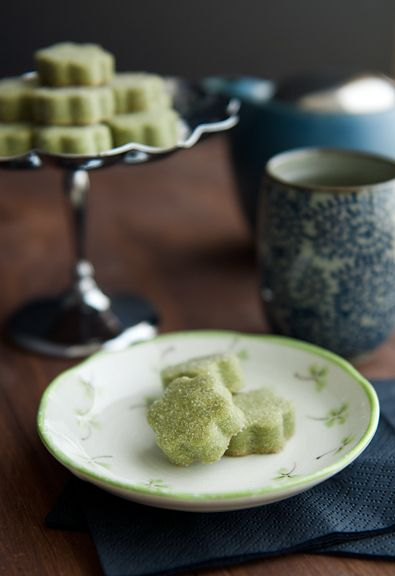 matcha green tea shortbread cookies | Food Photography | Pinterest