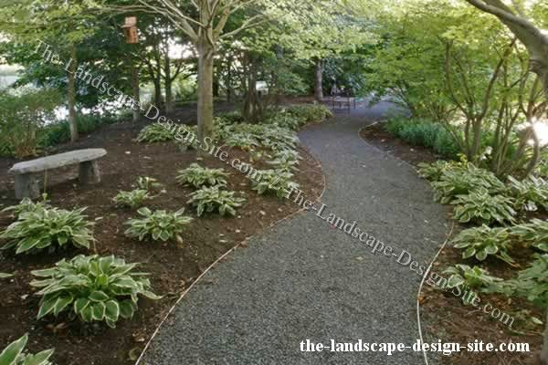 landscaping with gravel ideas  Winding Curved Gravel Garden Path