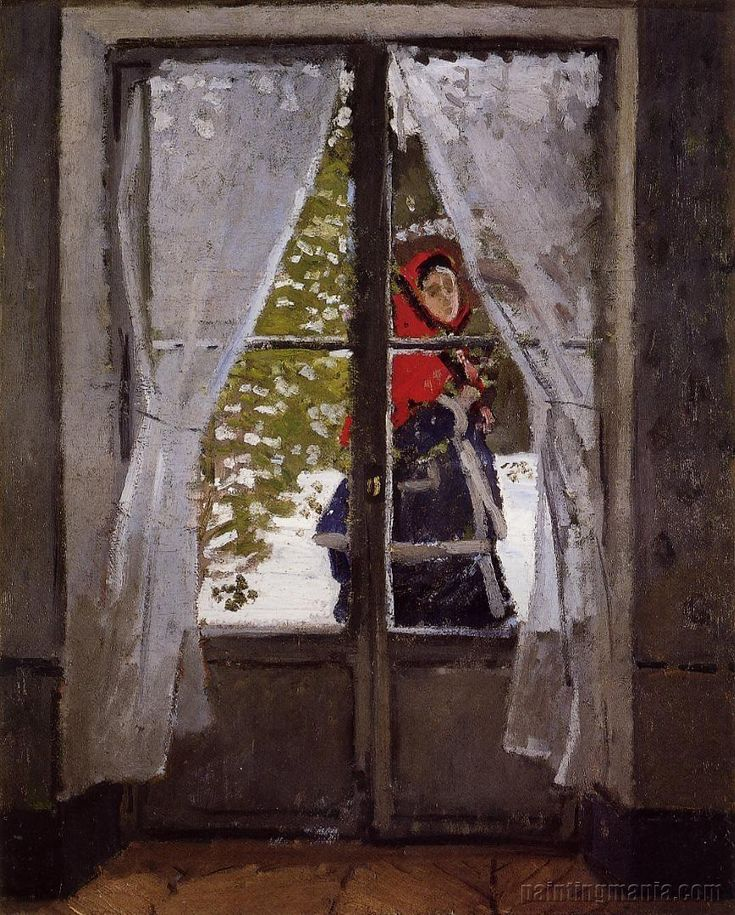 The Red Kerchief: Portrait of Camille Monet, by Claude Monet